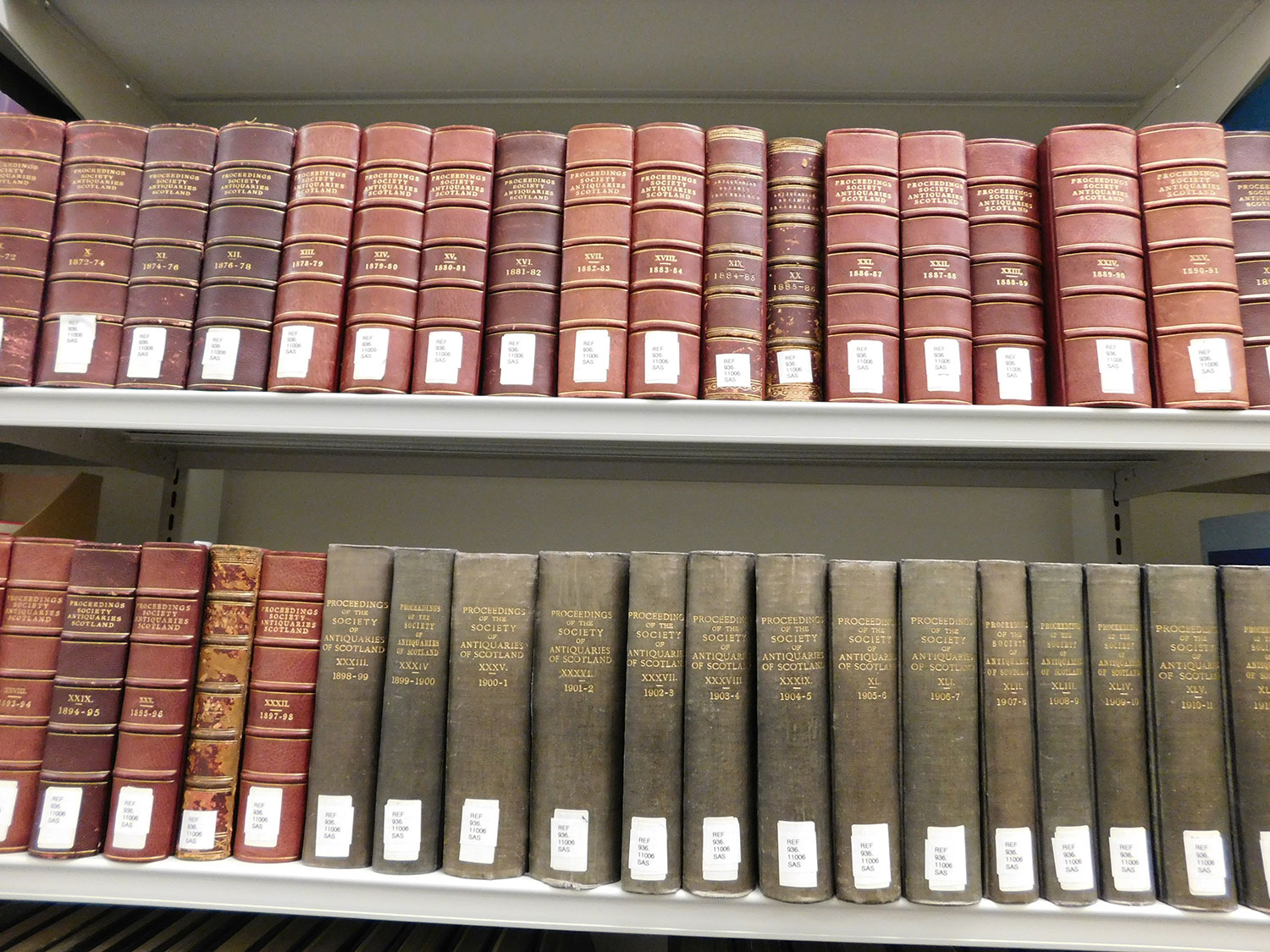 Proceedings of the Society of Antiquaries of Scotland in the Research Library which is open to the public © Julie Holder