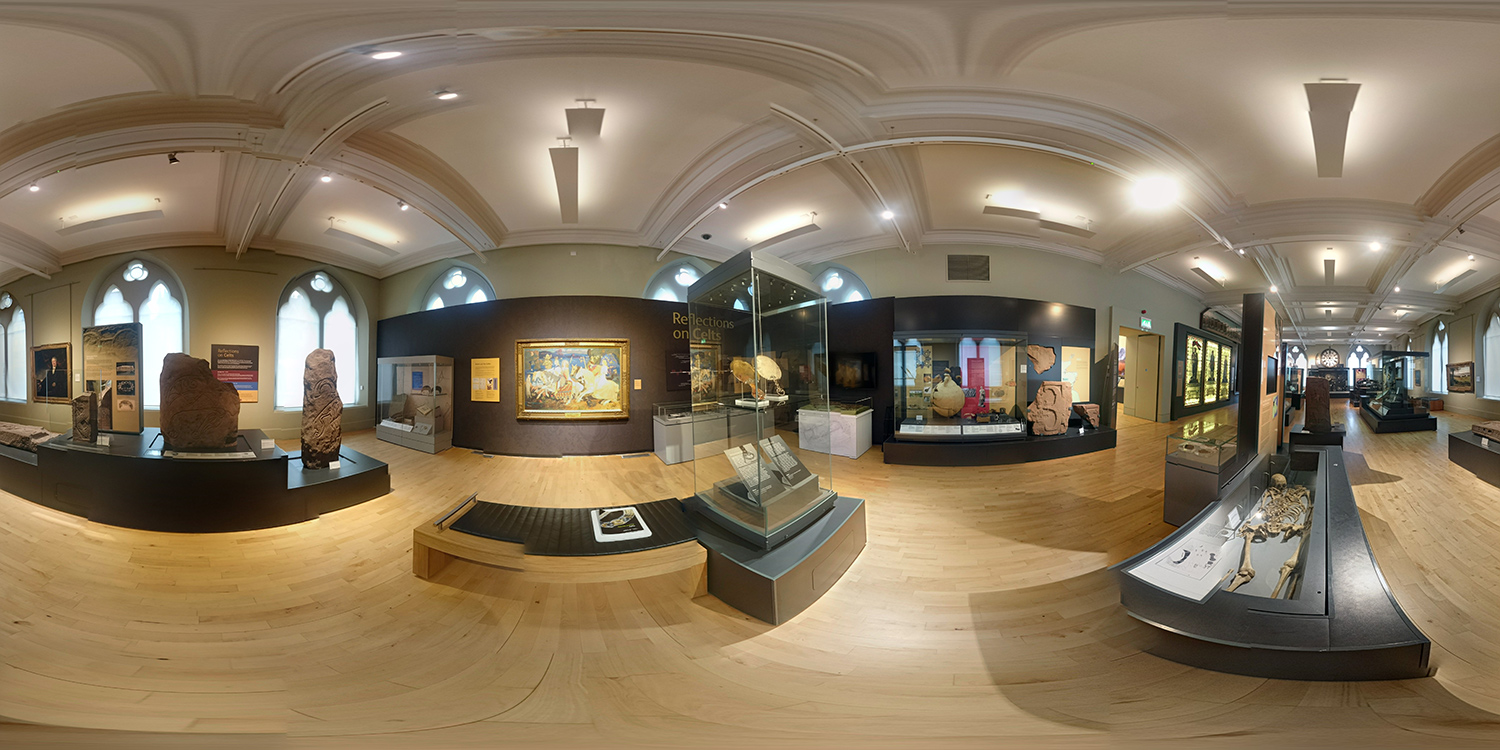 360 view of the exhibition