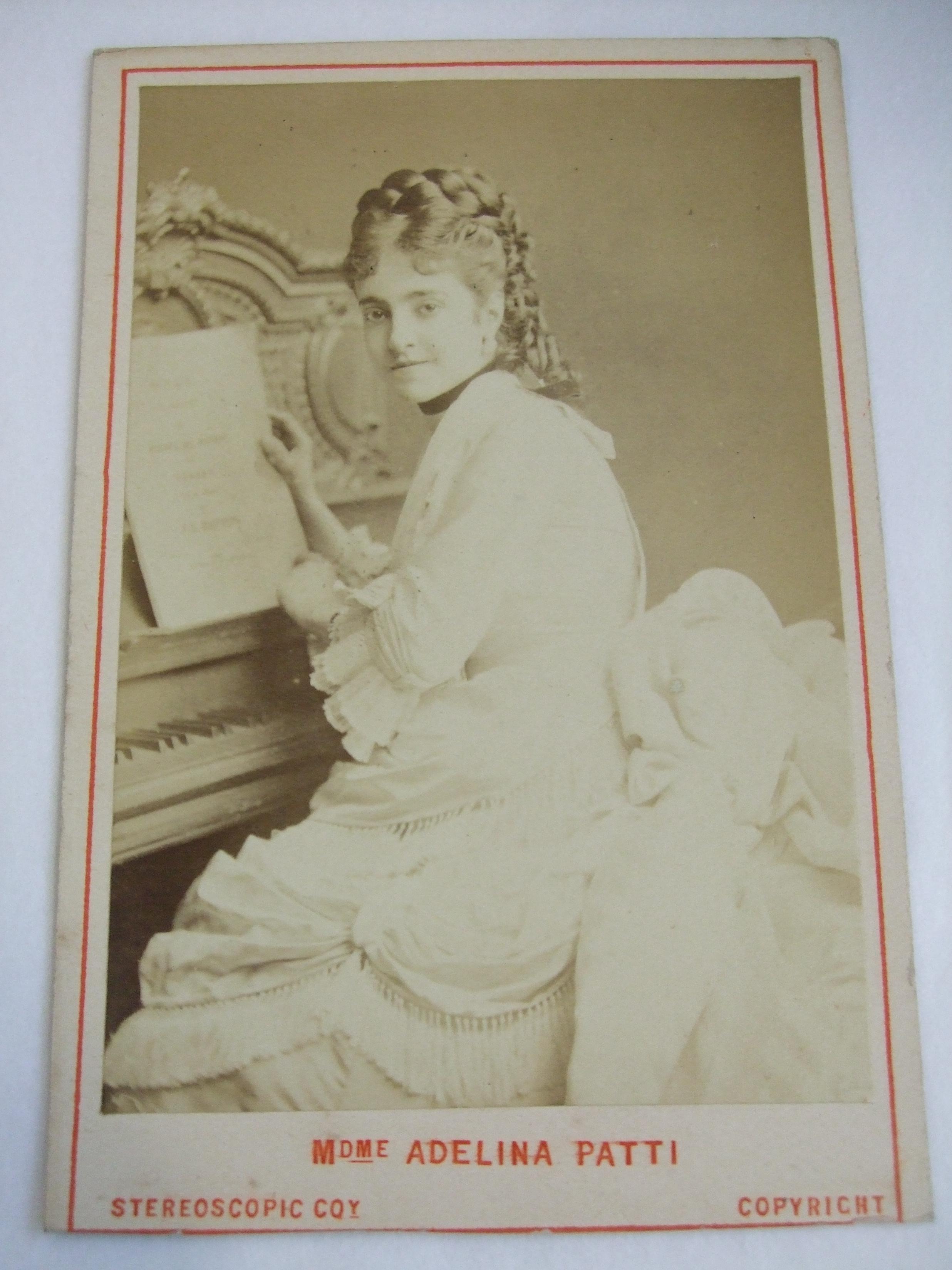 A carte-de-visite of Adelina Patti