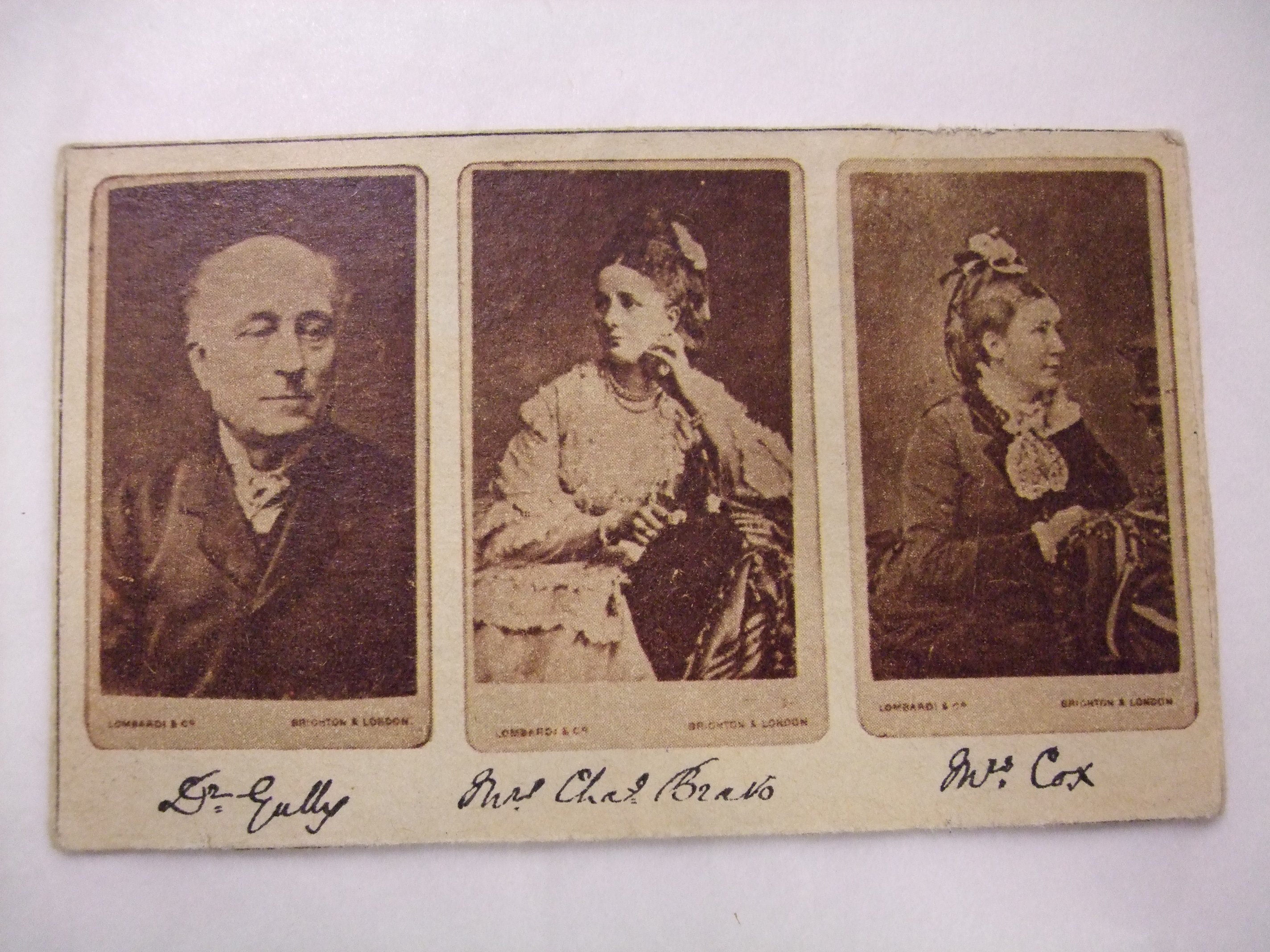 Three figures featured on this carte-de-visite