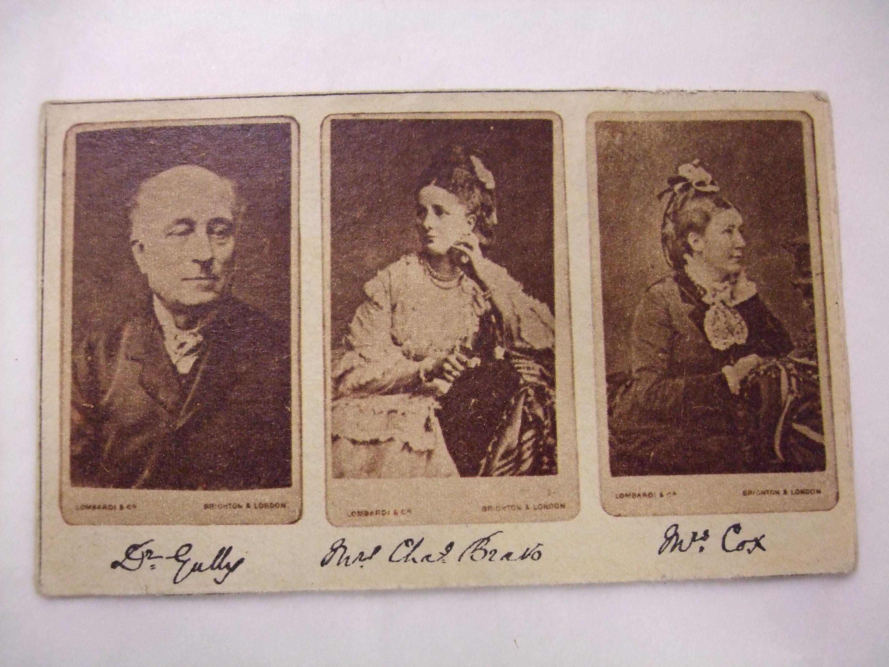 Three figures featured on this carte-de-visite