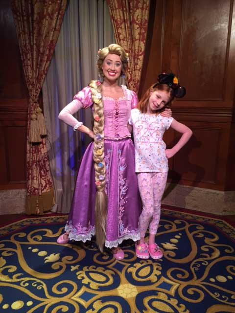 Morag meeting Rapunzel at Walt Disney World,.