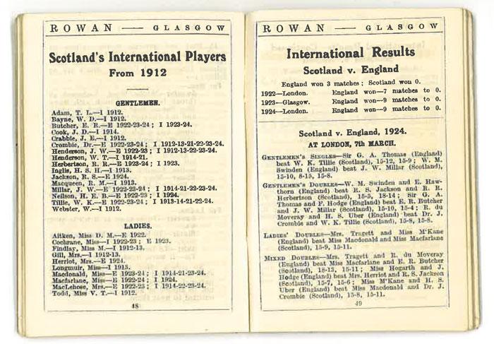 Rowans badminton guide, season 1924-25 / Rowan & Co. Ltd.