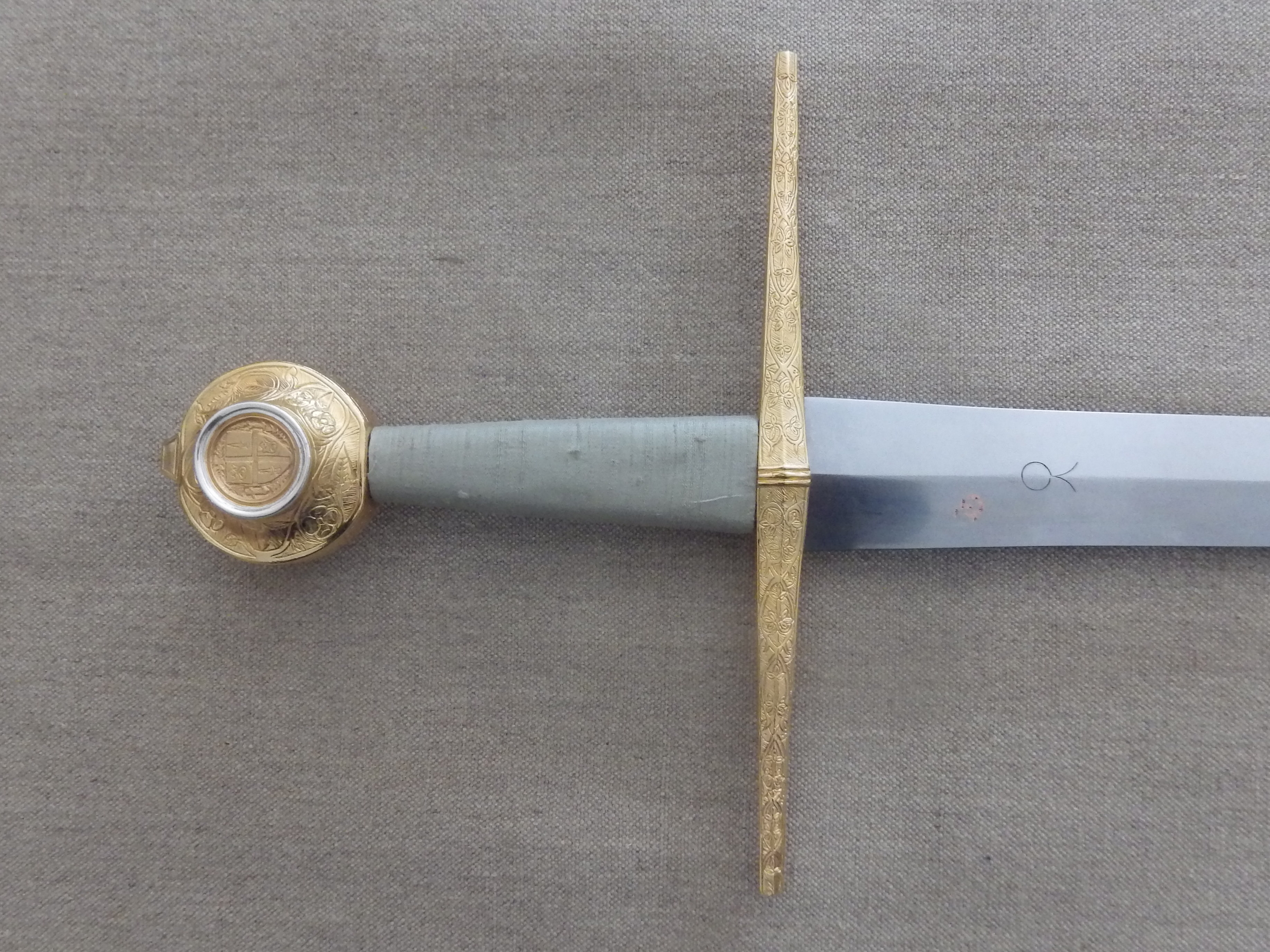 The finished sword hilt