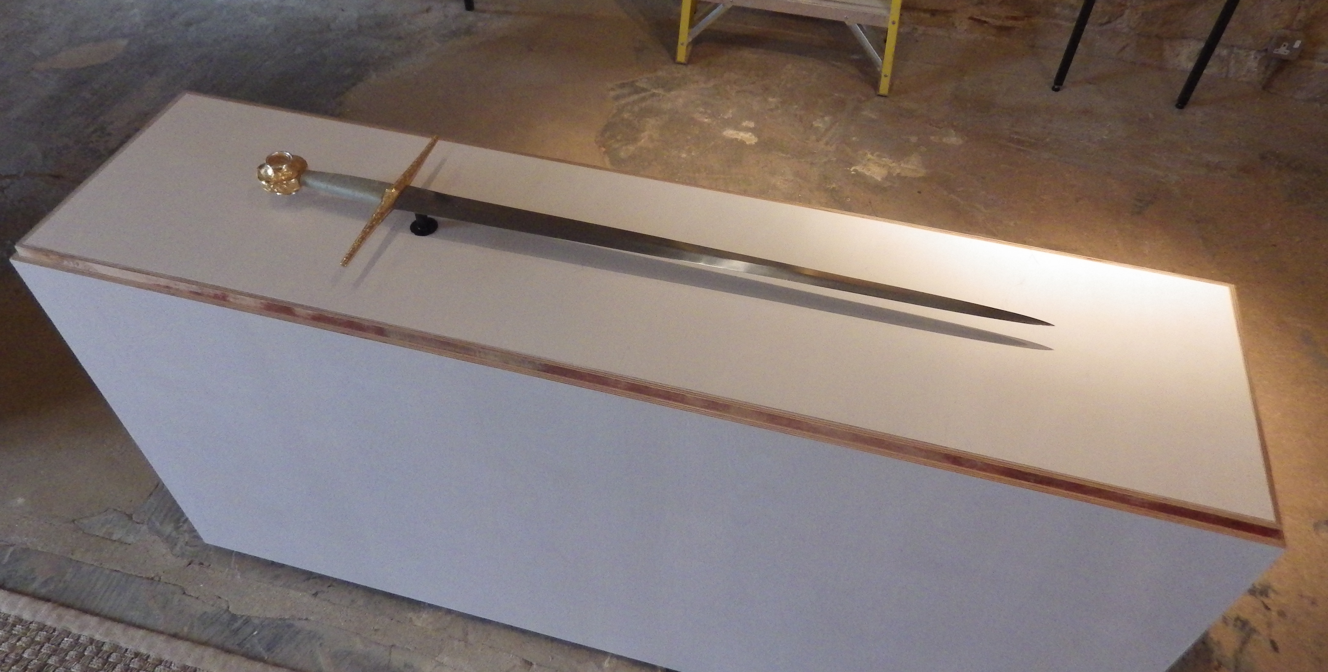 The finished sword, ready to go on display