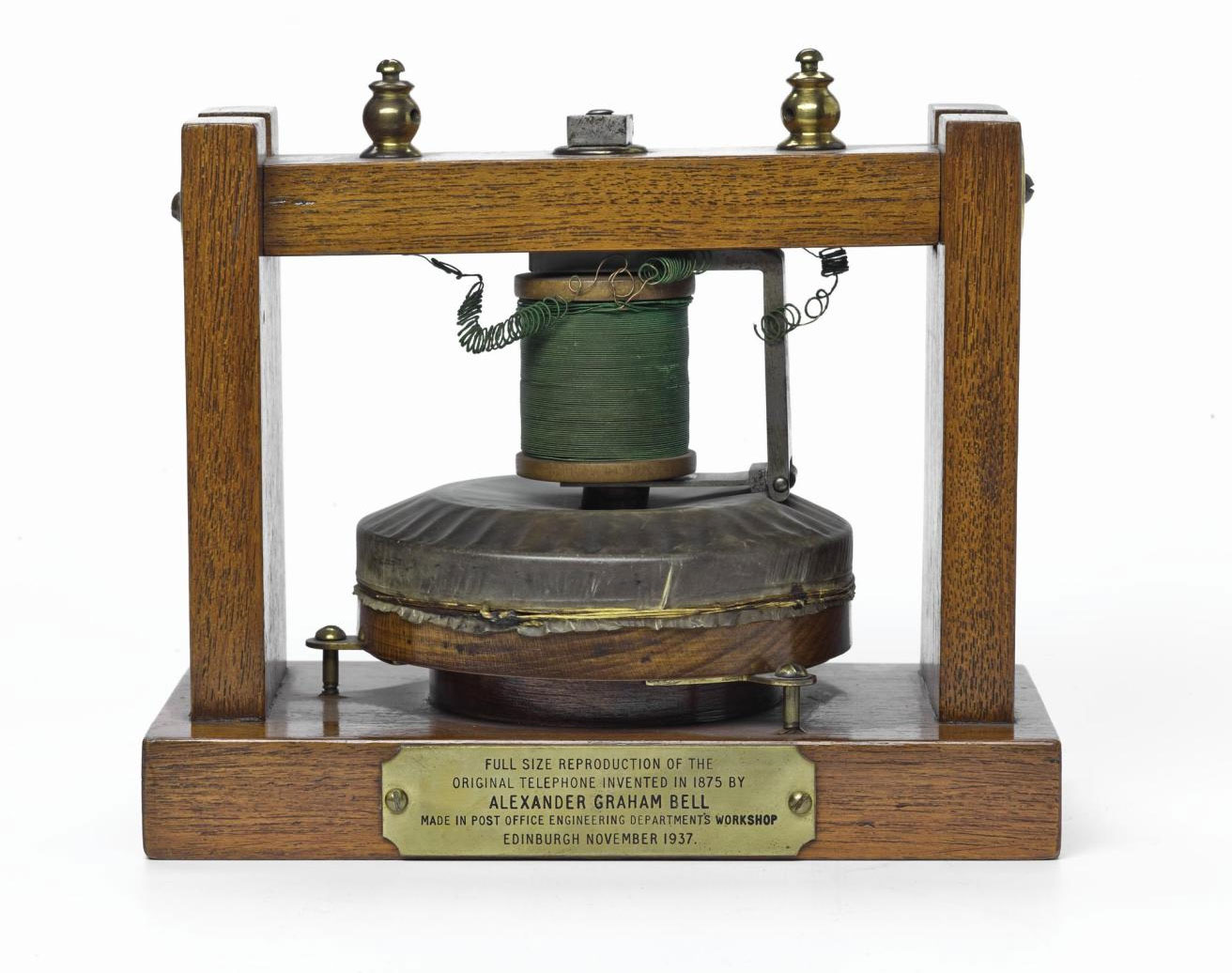 Bell's 'gallows frame' telephone.