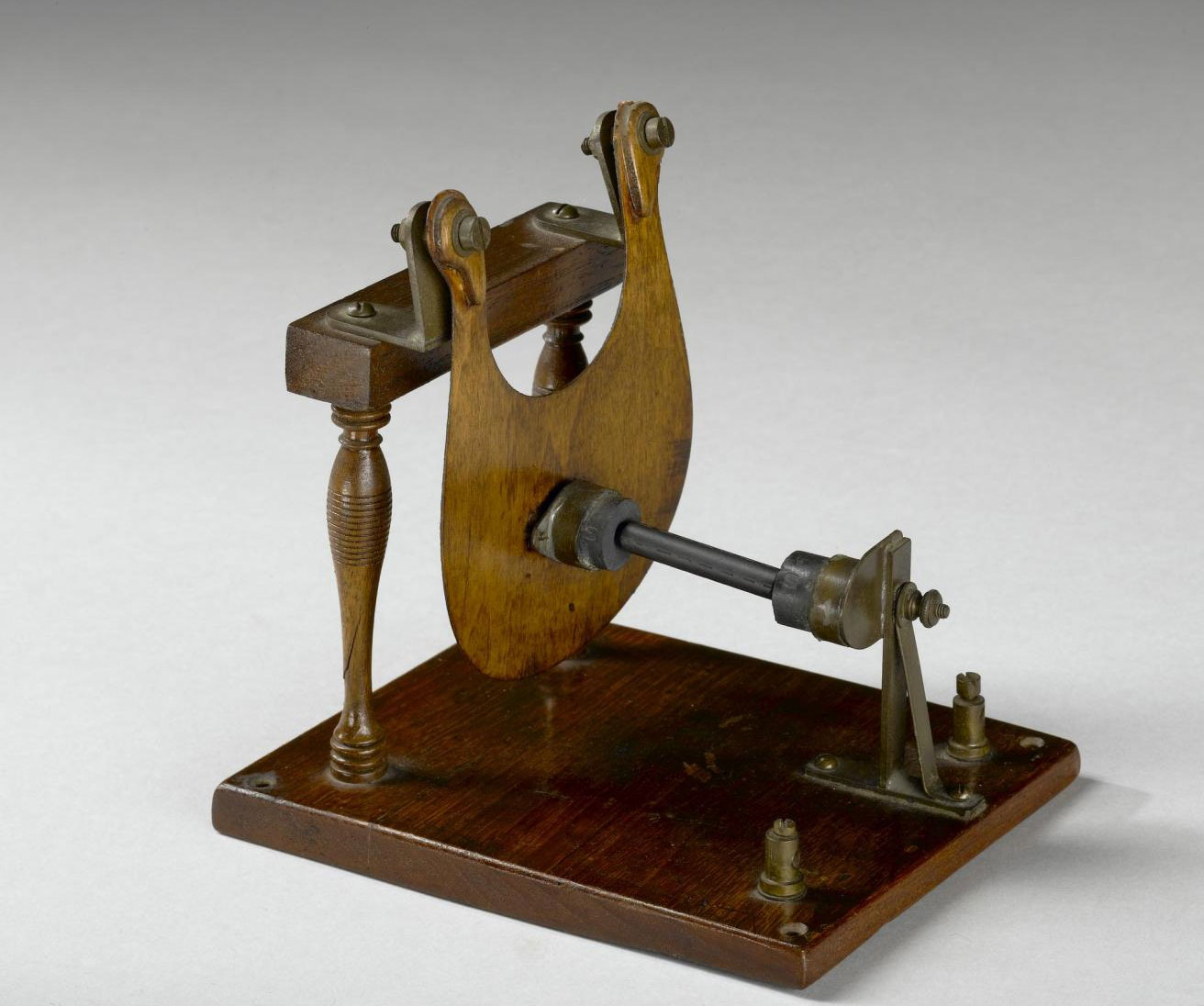 Experimental microphone with carbon pencil by Prof David E Hughes, London, c1879