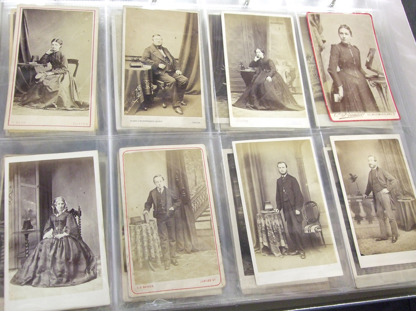 Carte-de-visites in the Howarth Loomes collection