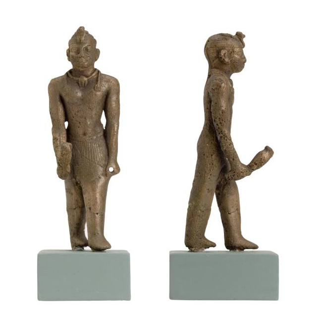 Statuette in bronze of a Nubian king, c. 700 BC