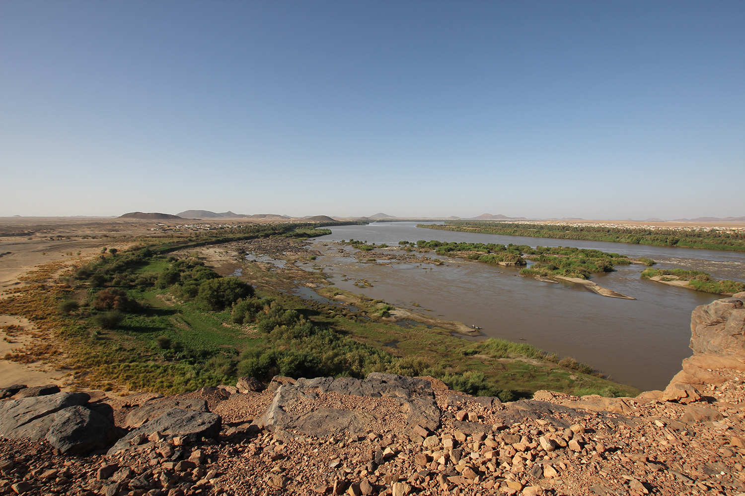 The third Nile-cataract at Kerma, Sudan © Margaret Maitland