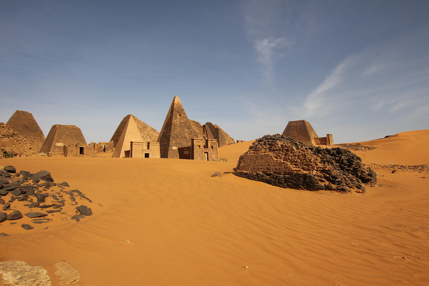 The Nubian pyramids at Meroe © Margaret Maitland
