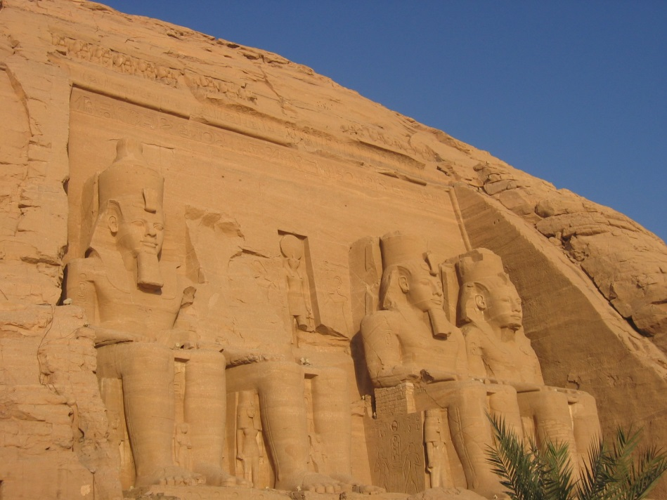 The temple of Ramesses II in Abu Simbel, built c. 1250 BC © Margaret Maitland