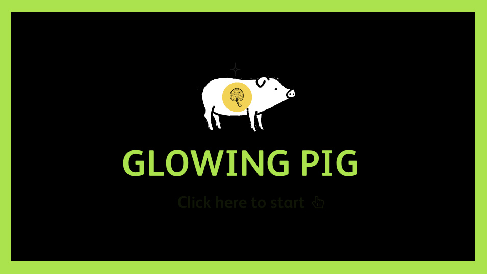 Glowing Pig brings people into the lab, to look at how we study genes that control different traits - such as glowing in the dark.