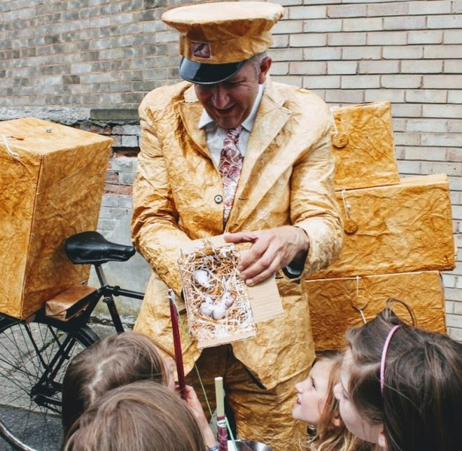 Look out for a postman on a bicycle at this years Edinburgh International Children's Festival.