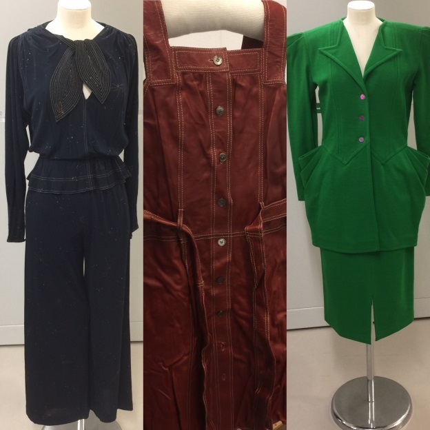 Jean Muir in jersey, leather and wool.