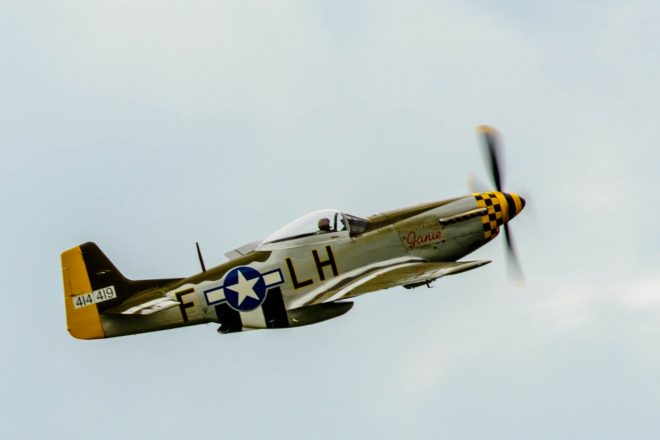 P51 Mustang at Scotland's National Airshow © Spencer Harbar Photography