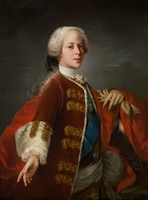 Prince Henry, brother of Prince Charles Edward Stuart, by Blanchet. Intrigued by the gloves with pointy fingers! Royal Collection Trust © Her Majesty Queen Elizabeth II 2017