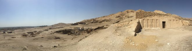 Panorama of the necropolis of Sheik Abd el-Qurna. Egypt. © Margaret Maitland