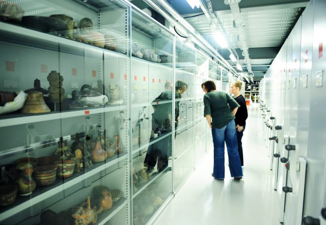 A view inside the National Museums Collection Centre