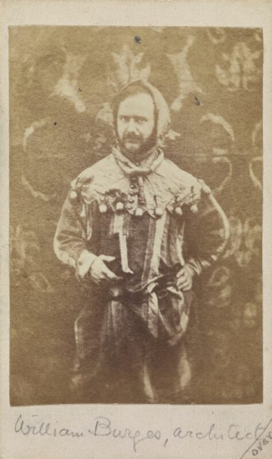 William Burges, by Unknown photographer, albumen print, 1860s NPG P231 © National Portrait Gallery, London.