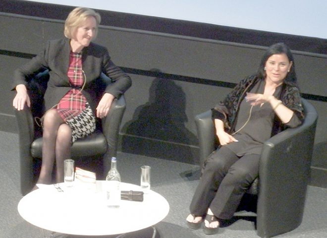 Lin Anderson and Diana Gabaldon in conversation at the National Museum of Scotland.