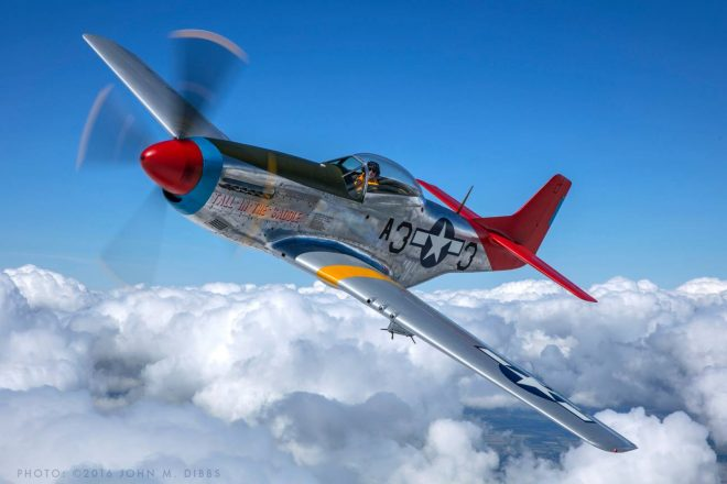 North American P-51D Mustang long range fighter and bomber escort is part of Scotland's National Airshow 2017.