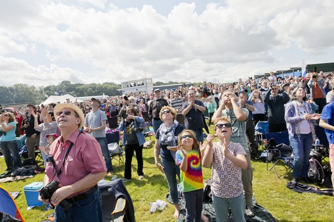 Scotland's National Airshow crowd during the air display in 2015 © Ruth Armstrong Photography