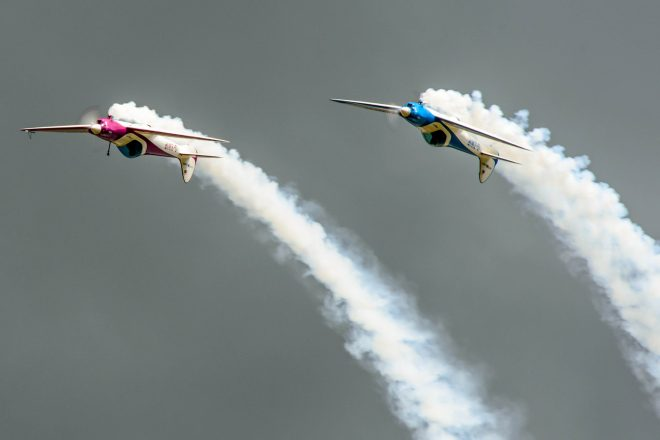 Twister Aerobatic Team at Scotland's National Airshow in 2013 © Spencer Harbar Photography