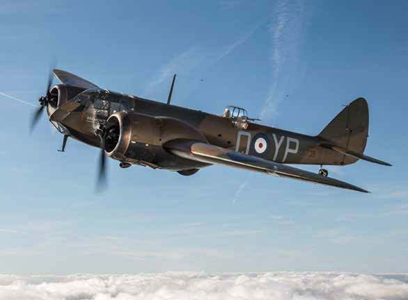 The Bristol Blenheim high speed transport and bomber will fly at Scotland's National Airshow 2017.