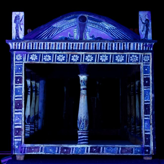 Fig. 6 Canopy end under UV light.