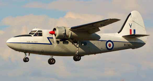 The twin-engined transport aircraft is part of Scotland's National Airshow 2017.