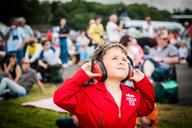 Watching another thrilling air display at Scotland's National Airshow © Ruth Armstrong Photography