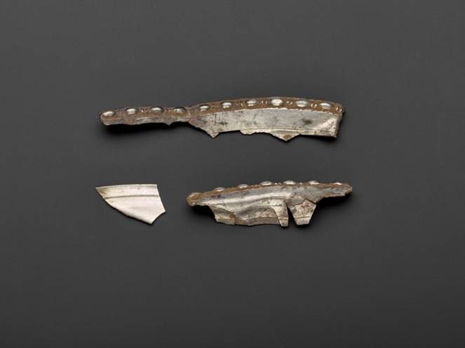 Fragments of decorated rim from the dish