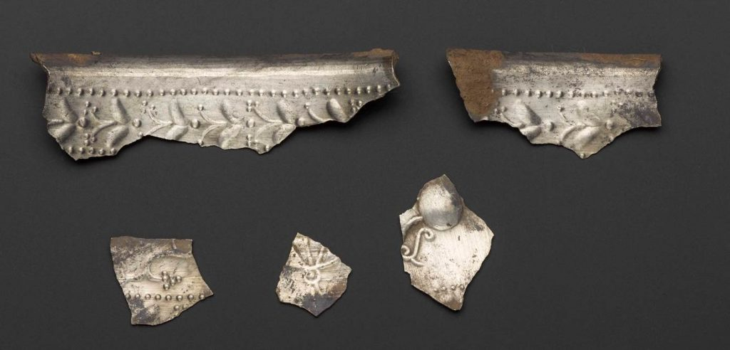 Tantalising fragments of a decorated beaker. See if you can spot the vine, or the jug which it sprouted from.