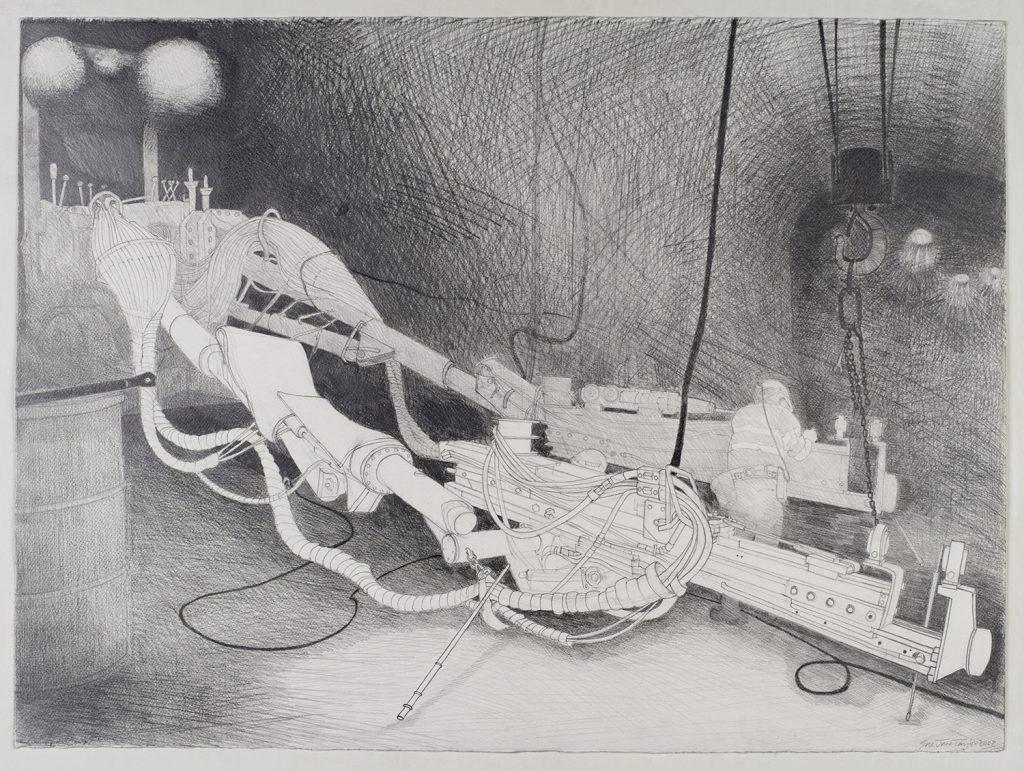 Boomer, Henty mine, 2008, graphite, 56 cm x 76 cm