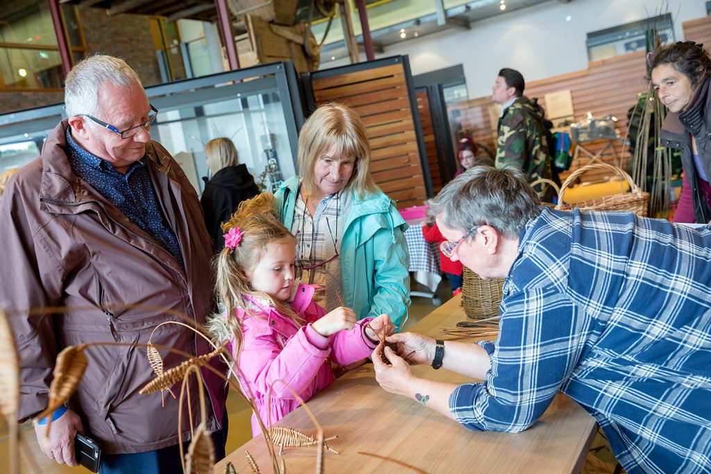 Willow weaving demonstration at the Country Fair. © Ruth Armstrong Photography.