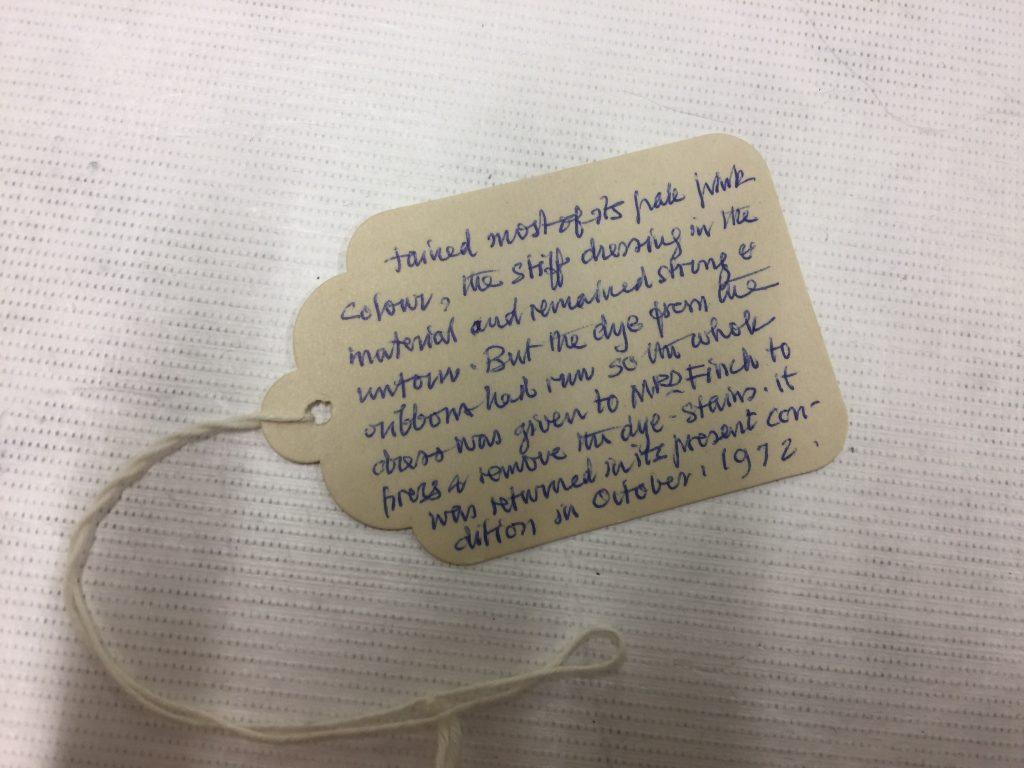 Charles Stewart's original handwritten object labels.