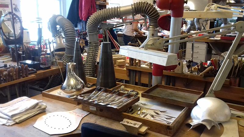 Behind the scenes at Georg Jensen silversmith in Copenhagen