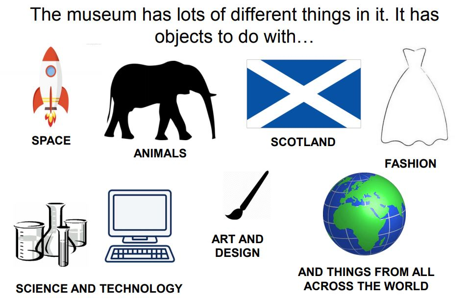 A page from the National Museum of Scotland visual story
