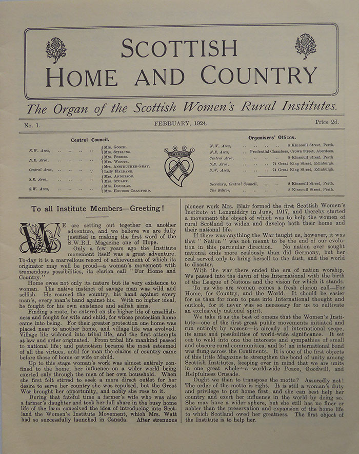 An issue of Home and Country dating from 1924.
