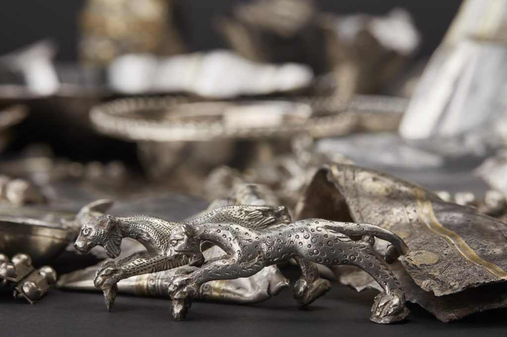 Silver hoard from Traprain Law, East Lothian AD 410–425.
