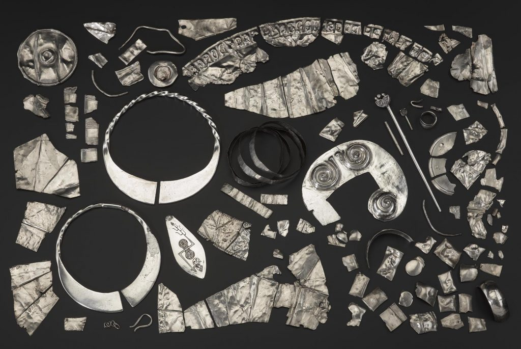 The surviving portion of the hacksilver hoard found at Norrie's Law, Fife in 1819.