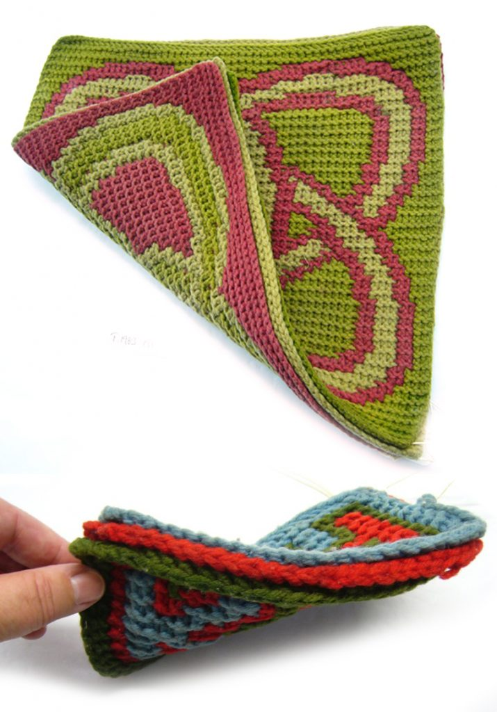 Details of layers in knitted models by Alexander Crum-Brown