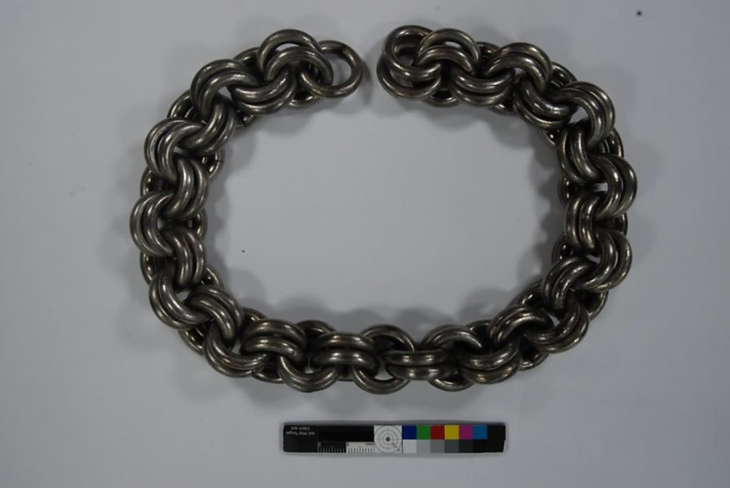The chains were heavily tarnished before we cleaned them.