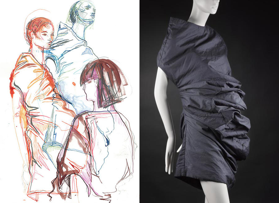 Katie Griffith Morgan, response to a dress from the 'Body Meets Dress' or 'Bump' collection, designed by Rei Kawakubo for Comme des Garçons, Spring/Summer 1997. (K.2015.3)
