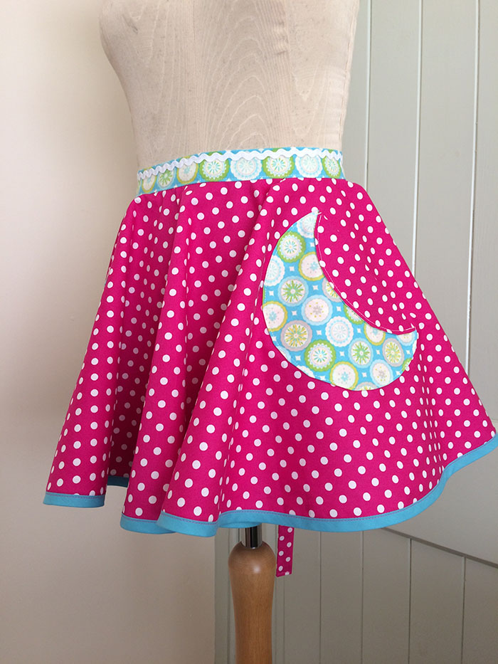 Brightly coloured apron for the girls.