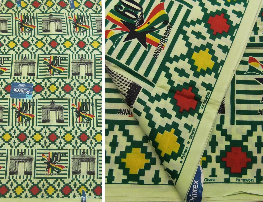 African cloth celebrating 60 years of Ghanaian independence