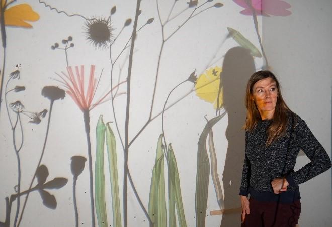 Helen Maurer in her studio, London Photo credit: Sebastian Sharples