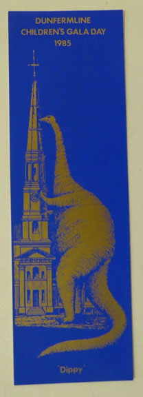 Bookmark commemorating Dunfermline Children's Gala Day, 1985. From the Scottish Life Archive, W.MS.2003.98.