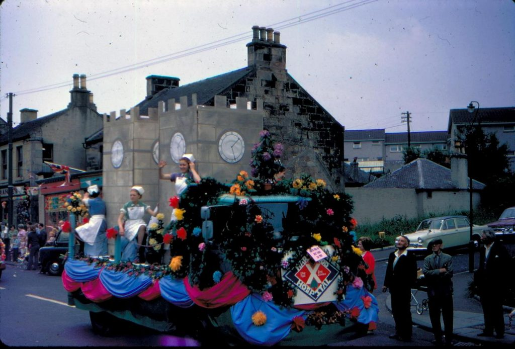 One of a series of colour transparencies taken at Shotts Gala, Lanarkshire in 1971. From the Scottish Life Archive, SLA.S.24618.